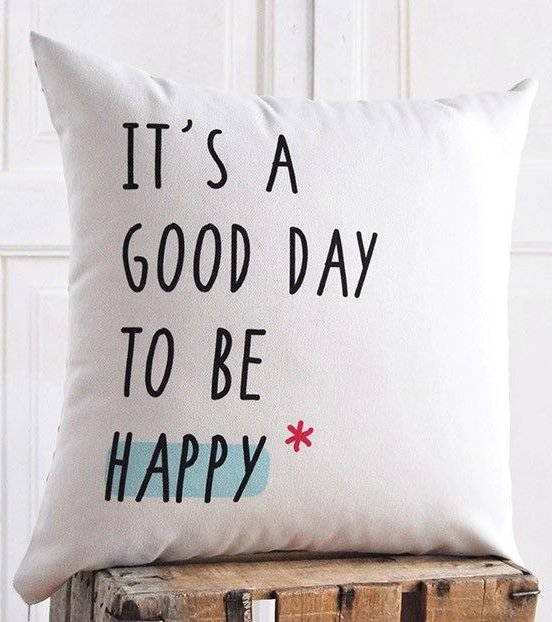 "Funda cojín ""It´s a good day"""