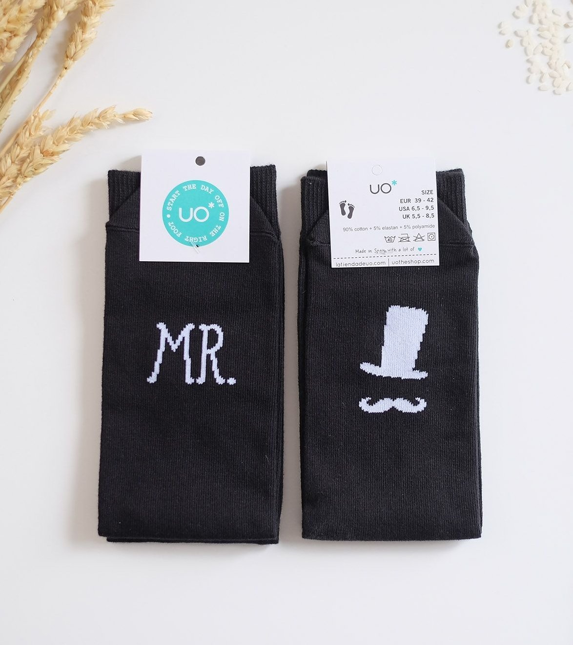 """Calcetines """"SR, JUST MARRIED"""""""